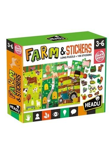 Headu  Çiftlik Yapboz ve Etiket 3-6 Yaş Mu2492 Renkli